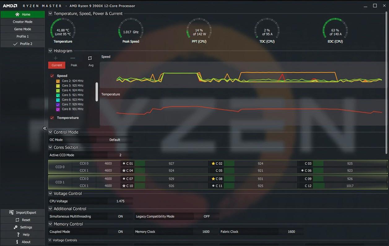 Screenshot 1 - AMD Ryzen Master