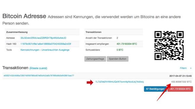 Blockchain-Eintrag©COMPUTER BILD