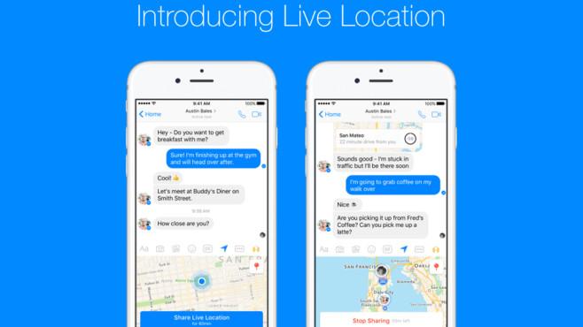 Live Location im Facebook Messenger©Facebook