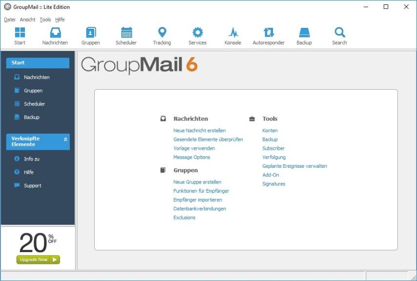 Screenshot 1 - GroupMail Lite