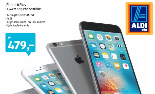 iPhone 6 Plus bei Aldi Süd © Aldi Süd