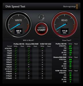 Blackmagic Disk Speed Test (Mac)