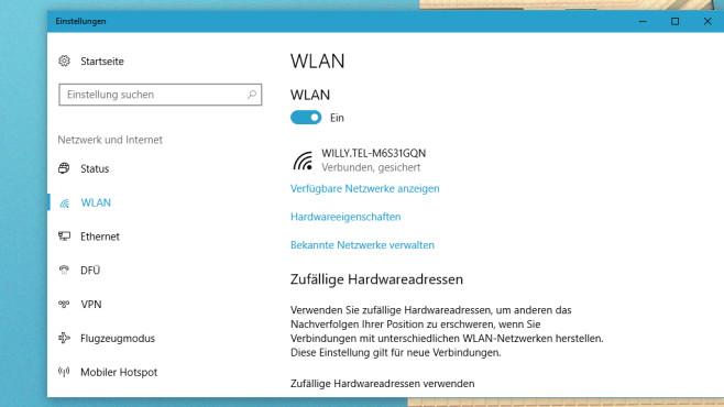 Neu: Netzwerkverbindungen (App) ©COMPUTER BILD