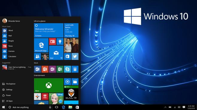 """seit Windows 10"" ©Microsoft, envfx-Fotolia.com"