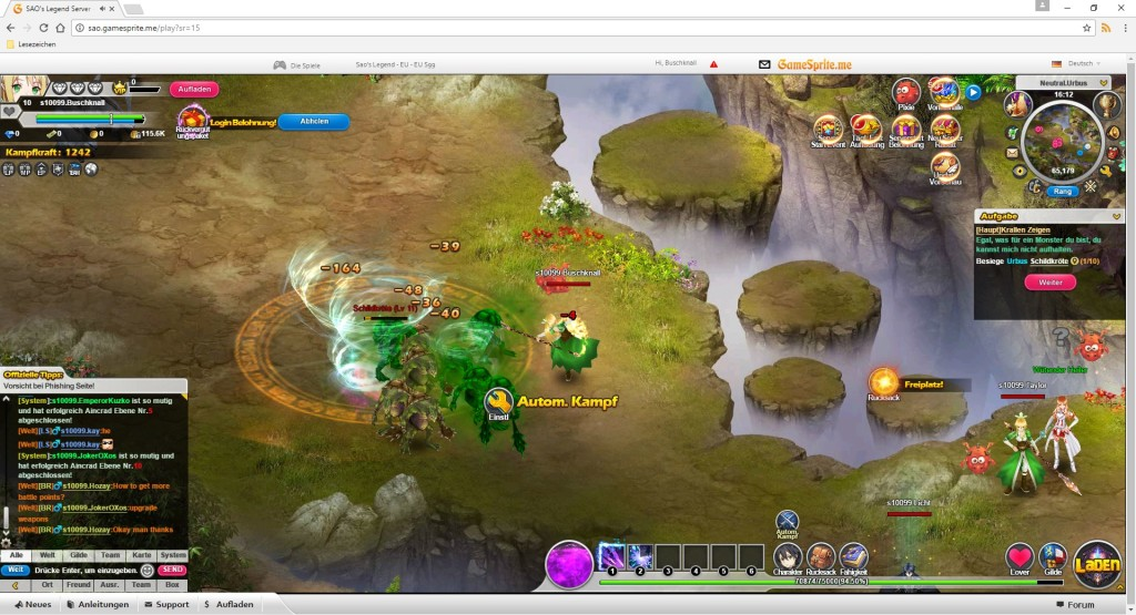 Screenshot 1 - Sword Art Online