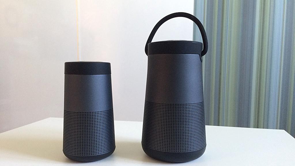 SoundLink Revolve im Test: Bei Bose geht's rund Tönen in alle Richtungen: Der Bose Soundlink Revolve und der Revolve+ (rechts) strahlen den Schall rundum ab.©COMPUTER BILD