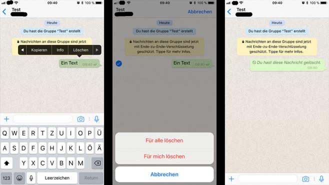 WhatsApp Lösch-Funktion©WhatsApp