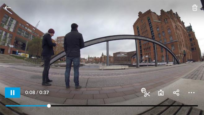 GoPro Fusion: Smartphone-App©COMPUTER BILD