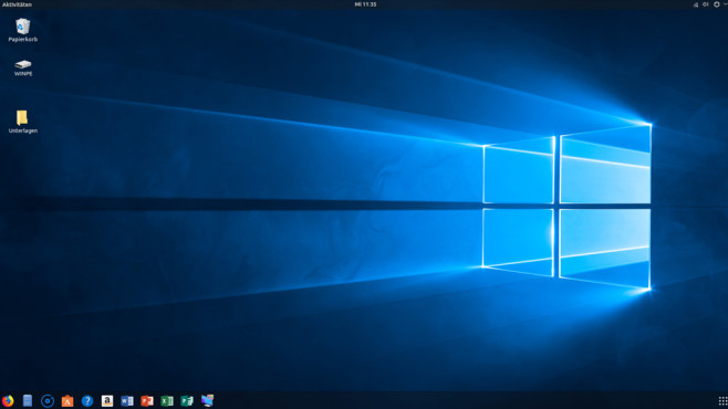 Linux mit Windows-10-Design versehen©Microsoft