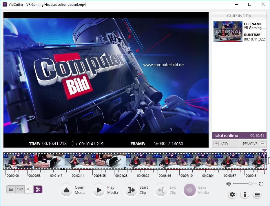Screenshot 1 - VidCutter