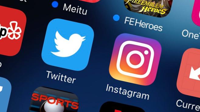Twitter, Instagram: Logos©COMPUTER BILD / Udo Lewalter