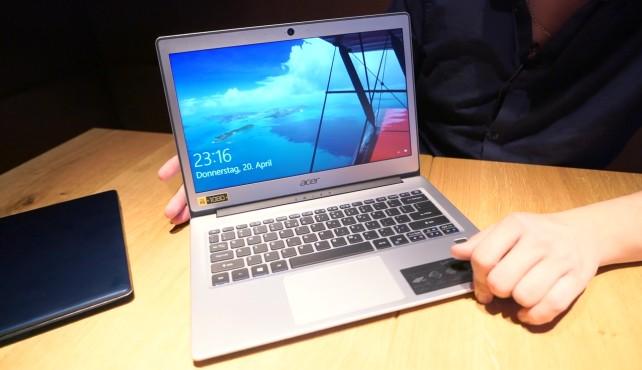 Acer Swift 1 und 3 ausprobiert: Ein Hauch von Apples MacBook Kommt einem irgendwie bekannt vor: das schicke Acer Swift 1 kann die Ähnlichkeit zum MacBook Air nicht verbergen.©COMPUTER BILD