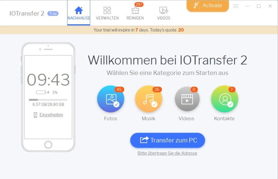 Screenshot 1 - IOTransfer