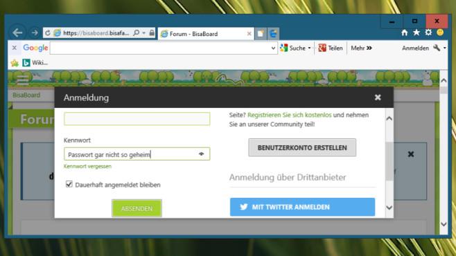 Windows-Browser zeigen Passwort im Klartext – so verhindern Sie das Der verräterische Browser-Button ist teils nützlich, birgt jedoch eine Gefahr.©COMPUTER BILD