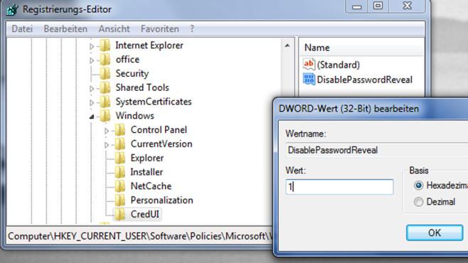 Windows-Browser zeigen Passwort im Klartext – so verhindern Sie das Mit einem Registry-Hack machen Sie die Browser-Nutzung etwas sicherer.©COMPUTER BILD