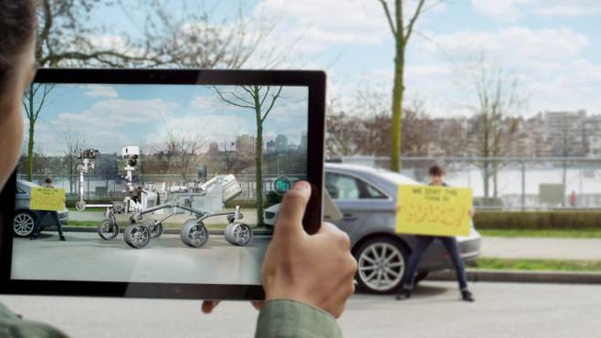 """Windows-3D-Viewer: Microsoft arbeitet an AR-App Via  kündigt der Nutzer """"WalkingCat"""" eine neue Funktion für den 3D-Viewer an.©Twitter - h0x0d"""