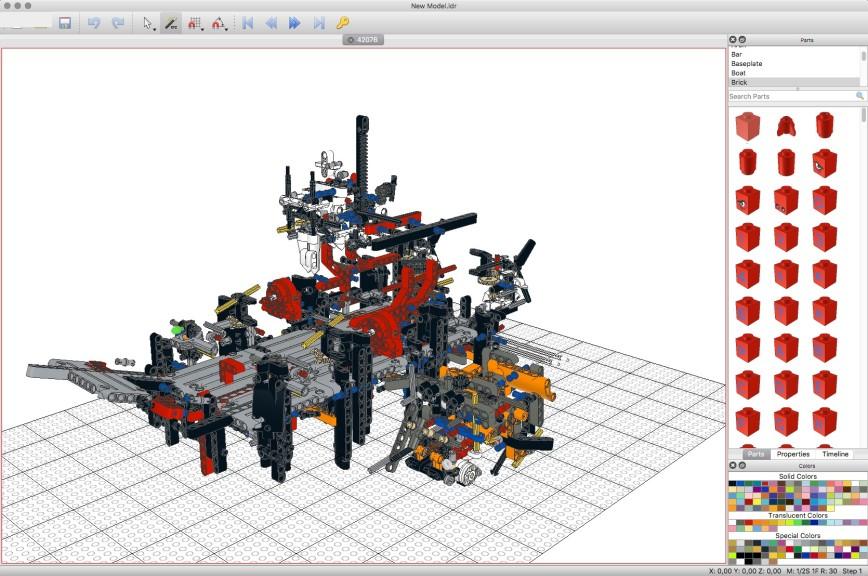 Screenshot 1 - LeoCAD (Mac)
