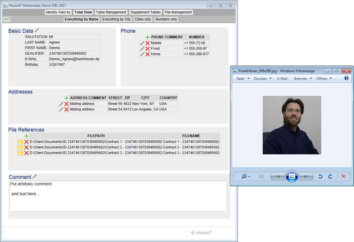 Screenshot 1 - HissenIT Stammdaten