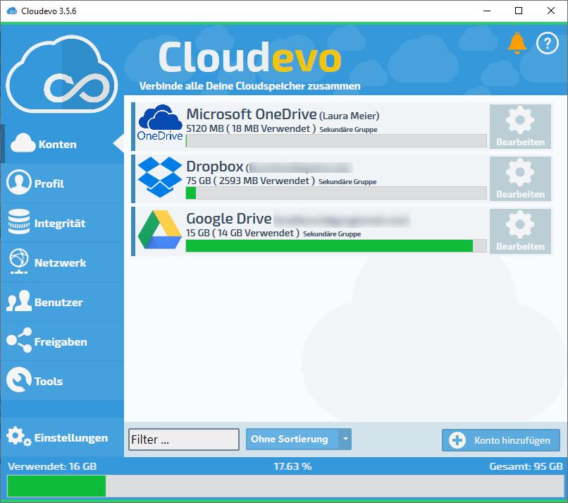 Screenshot 1 - Cloudevo