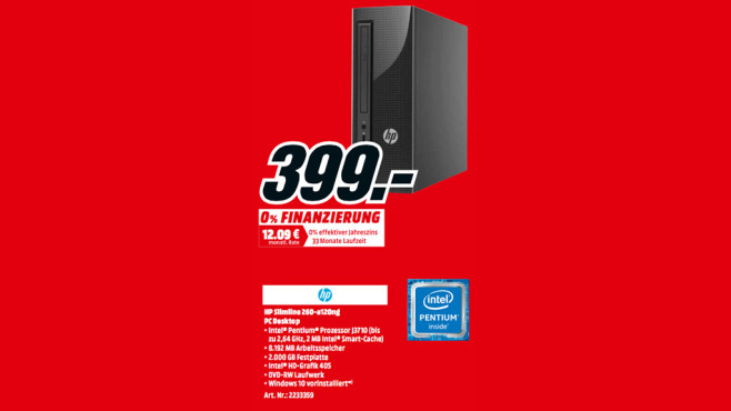 Hewlett-Packard HP Slimline 260-a120ng (1ET76EA) ©Media Markt