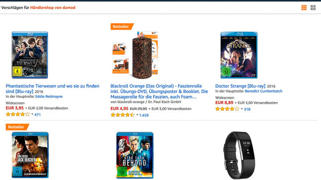 Amazon-Shopseite © Amazon.de-Screenshot von COMPUTER BILD