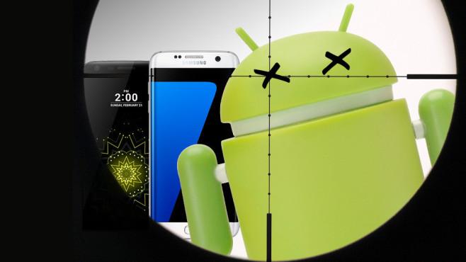Android hat gefährliche Sicherheitslücken©Google, Samsung, LG, ©istock.com/Korolev_Ivan