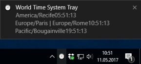 World Time System Tray