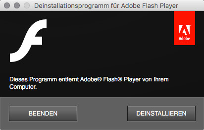 Screenshot 1 - Adobe Flash Player Uninstaller (Mac)