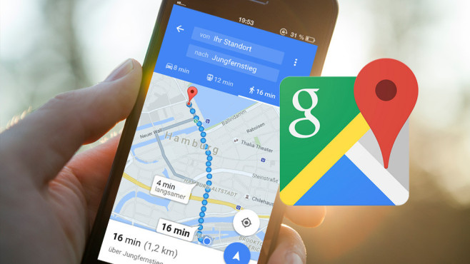 Pendler-Funktionen für Google Maps©Google, ©istock.com/Erik Khalitov