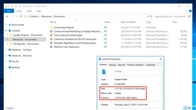 OneDrive Files On-Demand©Microsoft