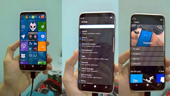 Samsung Galaxy S8: Windows 10©www.anzhuo.cn / Samsung / Microsoft