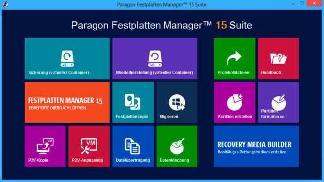 Festplatten Manager 15 Suite©Paragon
