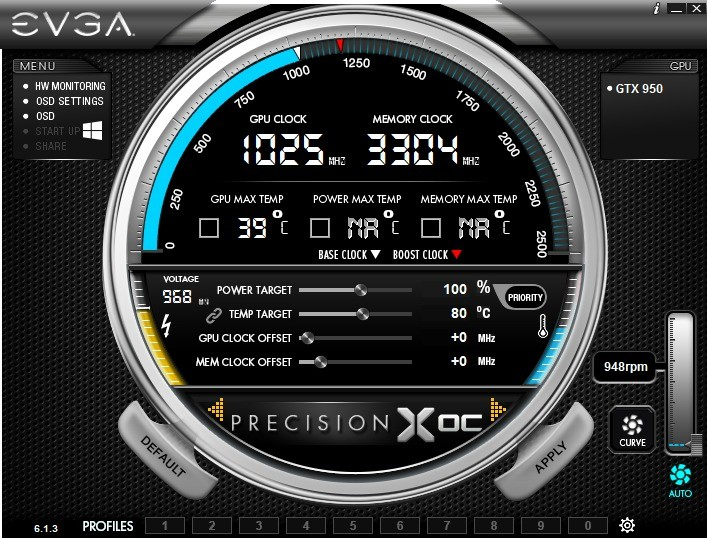 Screenshot 1 - EVGA Precision XOC