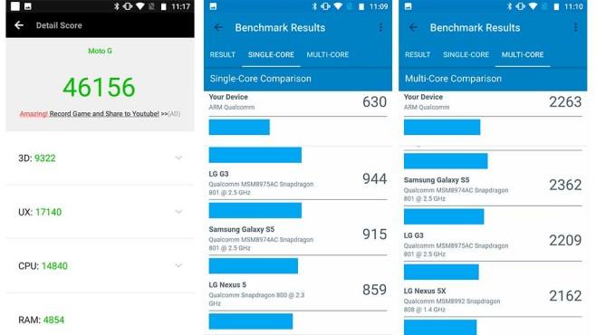 Motorola Moto G5S Leistungstests©COMPUTER BILD
