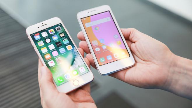 iPhone 7 vs. Lenovo B©COMPUTER BILD