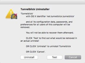 Tunnelblick Uninstaller (Mac)