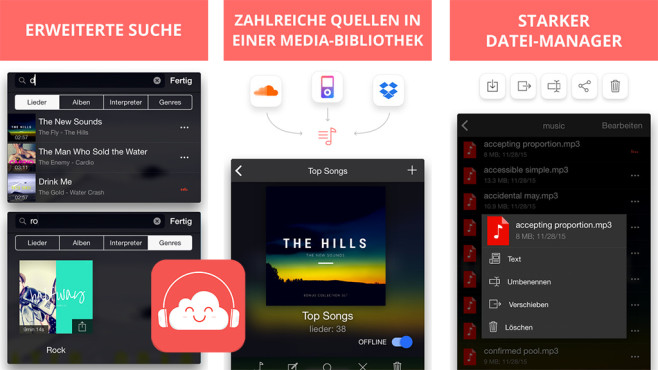 Eddy Wolke Music Player ©Capable Bits