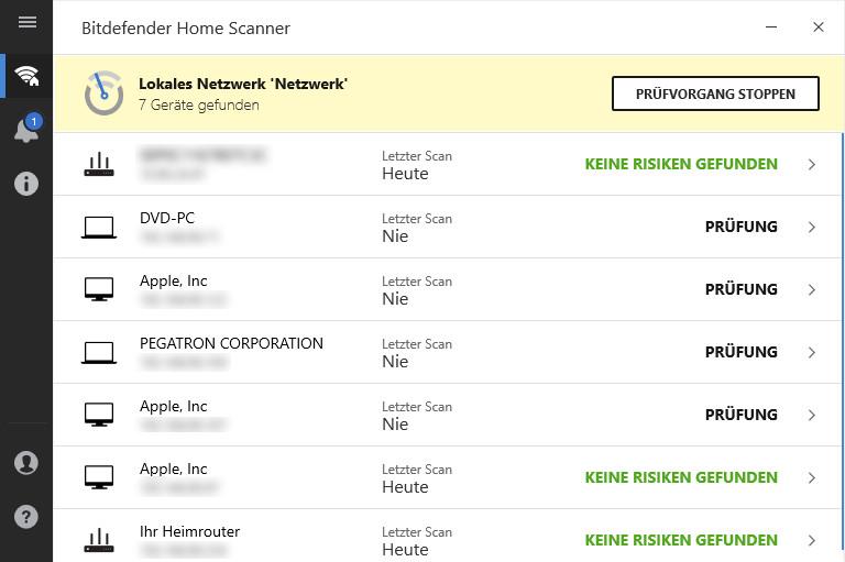 Screenshot 1 - Bitdefender Home Scanner