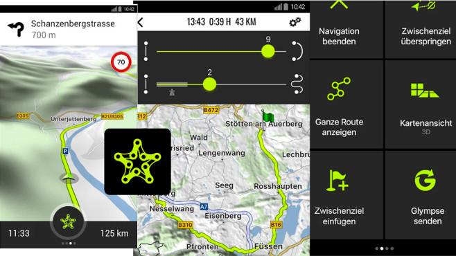 Navigon Cruiser – Motorrad App ©Garmin Würzburg GmbH