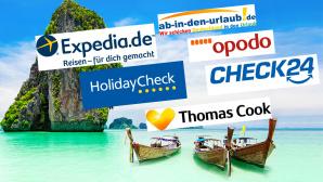 ©istock.com/ saiko3p, Expedia, Holidaycheck, Opodo, Check24, Ab in den Urlaub, Thomas Cook