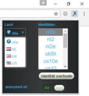 AnonymoX für Chrome