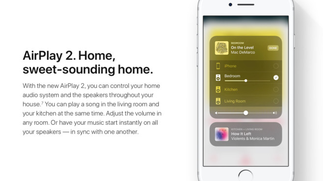 Airplay 2 als Multi-Room-Musiksystem © Apple