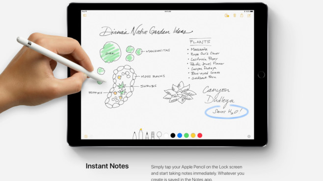Sofort-Notizen: Instant Notes © Apple