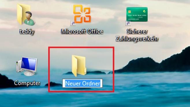 Windows 7/8/10: Ordner schneller anlegen©COMPUTER BILD
