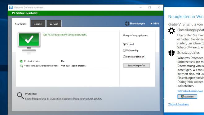 Windows Defender alt©COMPUTER BILD