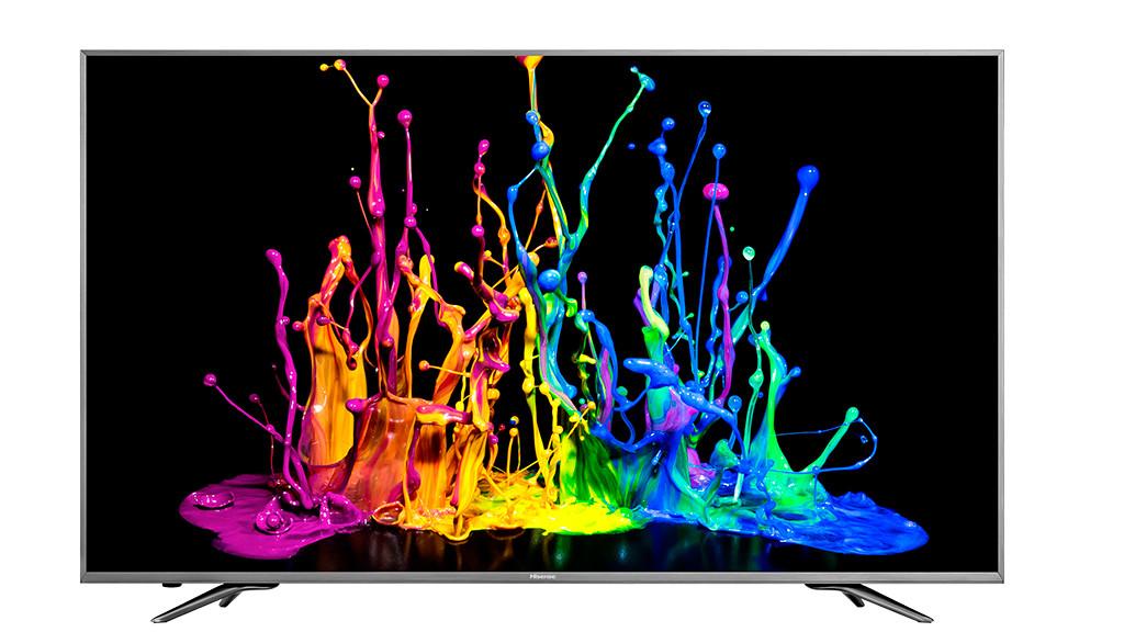 Smarter UHD-Fernseher im Test Mit seinem schmalen Alu-Rahmen muss sich der Hisense H55N6800 nicht vor teurerer Konkurrenz verstecken.©Hisense