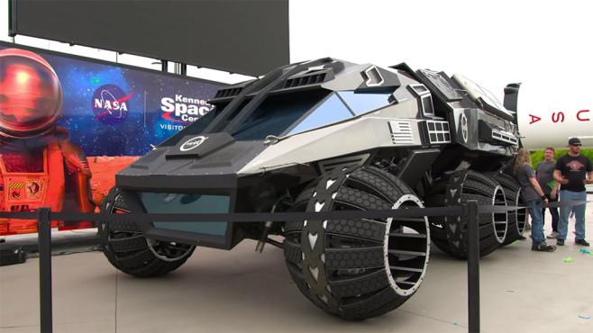 Mars Rover: Fahrzeug©YouTube / Kennedy Space Center Visitor Complex
