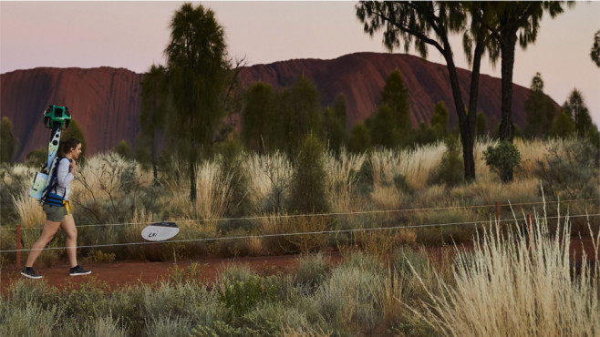 Google-Trekker im australischen Outback©Google
