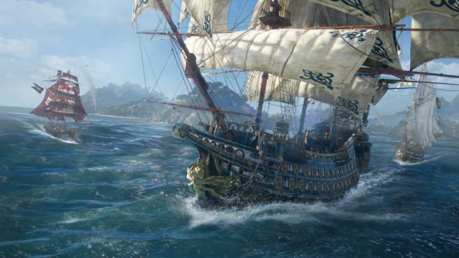 """Skull & Bones: Fette Beute auf hoher See In """"Skull & Bones"""" stehen, von der wendigen Brigg bis hin zur schweren Fregatte, unterschiedliche Schiffsklassen zur Verfügung.©Ubisoft"""