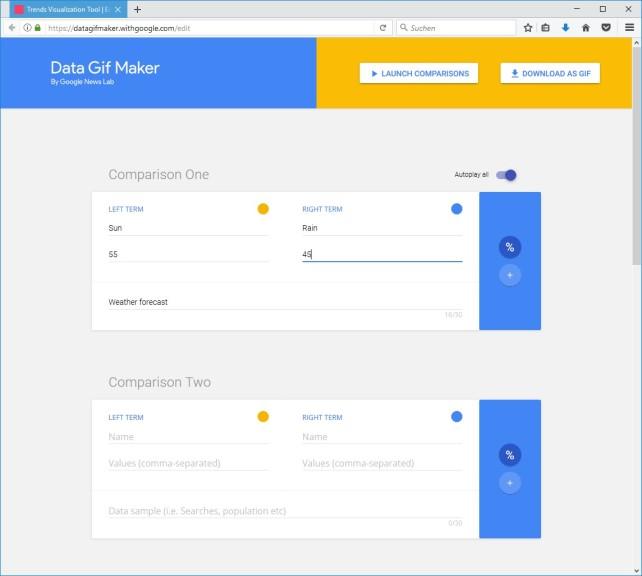 Screenshot 1 - Google Data Gif Maker